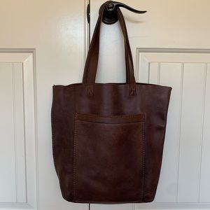Lucky Brand Brown Leather Tote Shoulder Bag